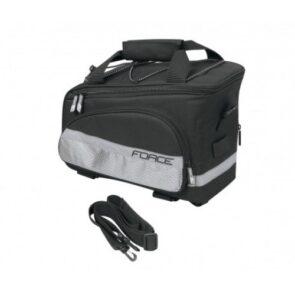 torba za paktreger FORCE slim crna 9L